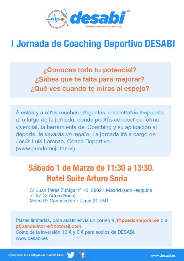 coaching - I JORNADA DE COACHING DEPORTIVO DESABI