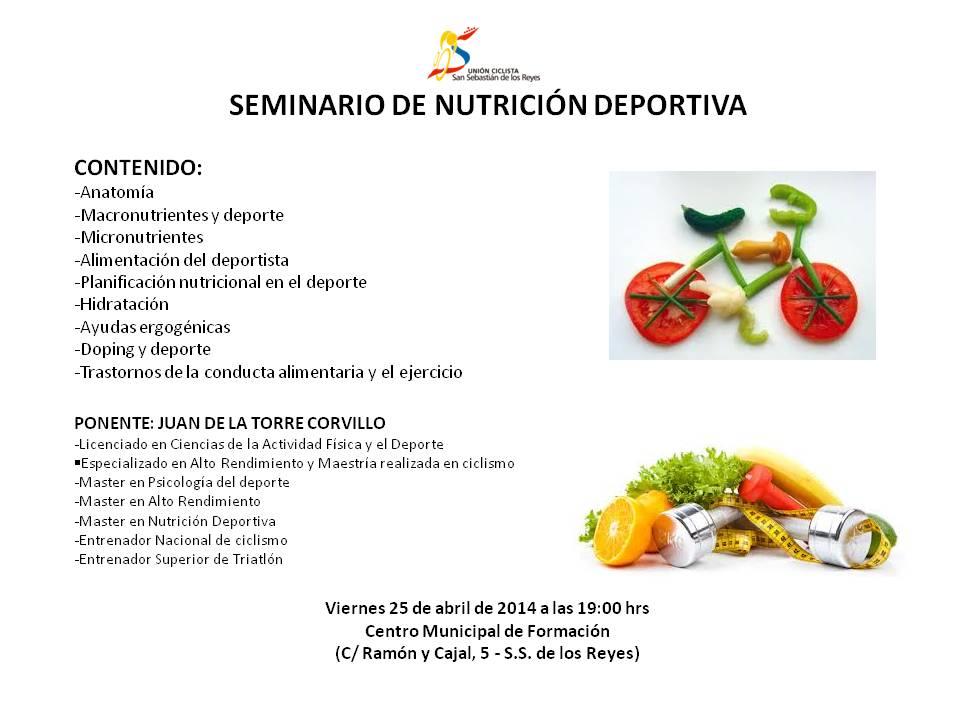 Imagen1 - SEMINARIO SOBRE NUTRICIÓN DEPORTIVA EN SAN SEBASTIÁN DE LOS REYES