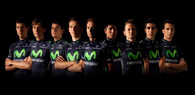 """Equipo Movistar Tour de Francia 655x321 - SIN VALVERDE EL MOVISTAR PIERDE SU ESENCIA. """"ESPERAMOS TU REGRESO CON ANSIEDAD!"""""""