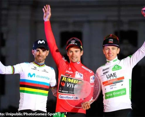 vuelta espana podio final madrid 2019 aso fototeca 495x400 - CONSEJO PARA UN ENTRENAMIENTO DE CICLISMO EN DÍAS CON LLUVIA