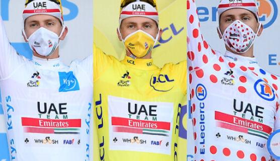 tadej pogacar tour francia 3 maillots 2020 aso fototeca 556x321 - RESUMEN DE UN TOUR QUE PASÓ A LA HISTORIA